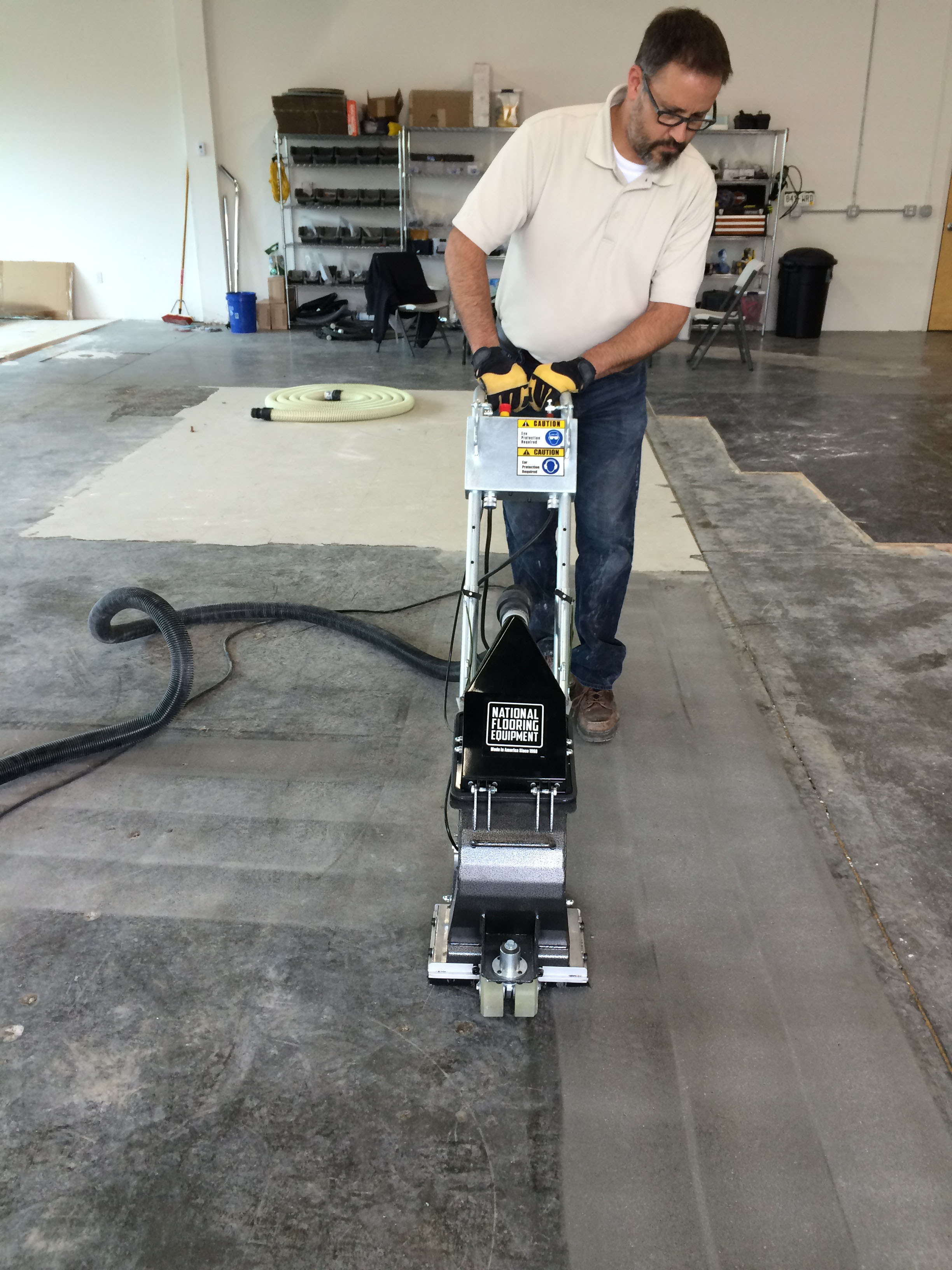National Flooring Equipments Shot Blasters Are Efficient In Surface Preparation As They Can Strip Older Coatings Clean And Profile A Floor Single