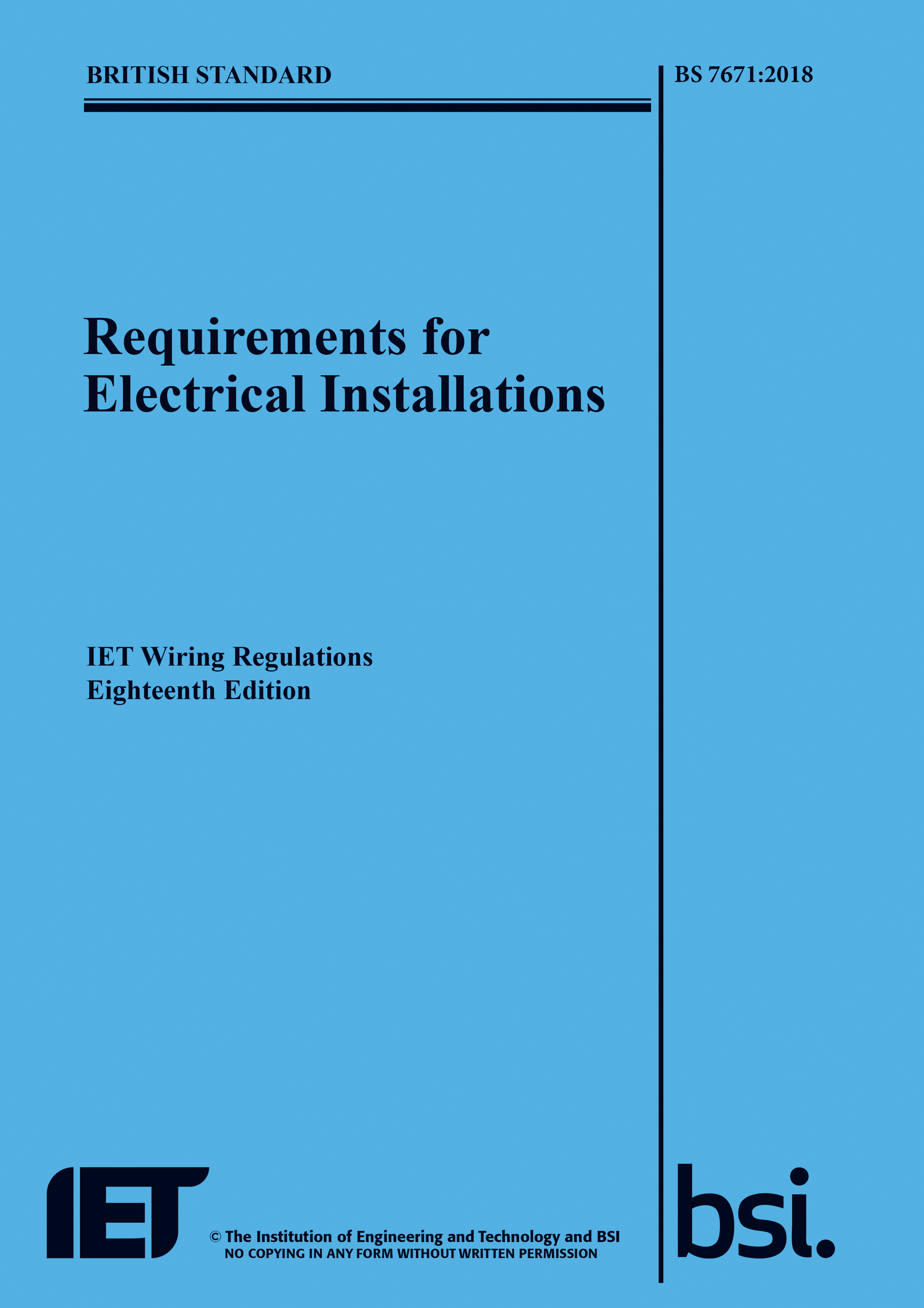 18th Edition IET Wiring Regulations for electrical installations now ...