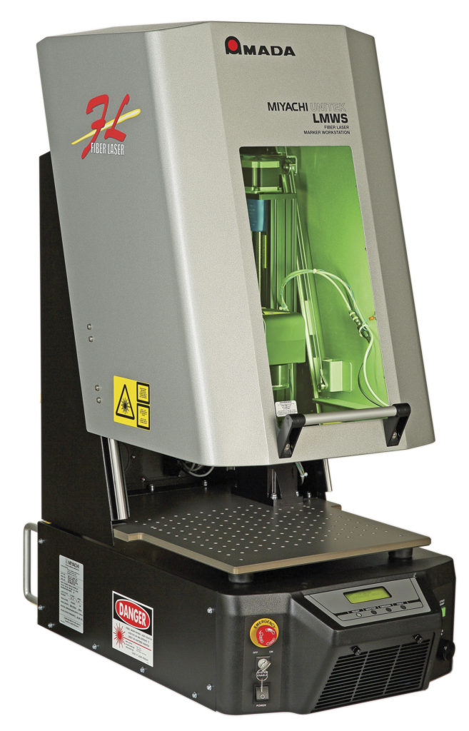 Compact laser marking workstation