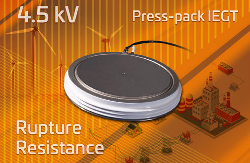 Toshiba develops 4.5kV press-pack IEGT with improved rupture resistance