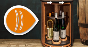 Stylish wine storage with 3D-printed parts