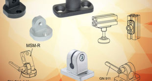 Profile compatible mounting components for aluminium frame machine screens and guards