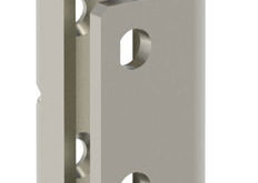 Stainless steel concealed hinge for prominent enclosure doors