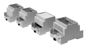 Snap fit modular design, base fits 35mm DIN-Rail or directly to flat surface
