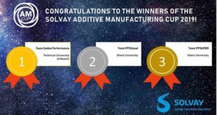 Solvay announces winners of Additive Manufacturing (AM) Cup 2019