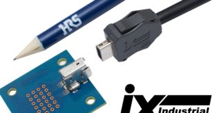 Connectors support I/O signal transmission speeds of up to 10 Gigabits per second