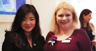 u-blox's Sylvia Lu and Elizabeth Donnelly, CEO of the Women's Engineering Society