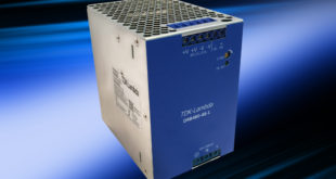 Long field life 48V 480W DIN rail power supply has a narrow 84mm width