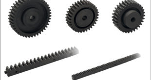 rack and spur gear transmission elements