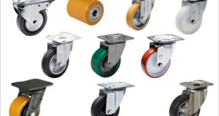 Castors and wheels for industrial purposes