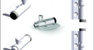 Small aluminium spring-loaded latch