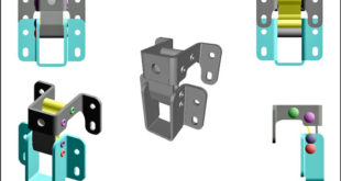 Stainless steel concealed hinges