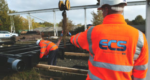 ECS manufacturing and site teams ready to carry out essential engineering work