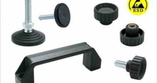 Electro-static discharge components for spraying and powder coating industry