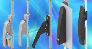 Space-saving lever locking lift handles