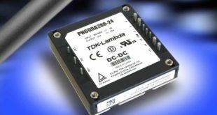 200 to 425V input 600W half brick DC-DC converter is certified to EN 62477-1 (OVC III)