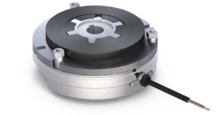 Spring-applied brake with reduced overall length and weight to suit disc motor applications