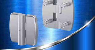 Vandal-resistant 180° stainless steel hinge