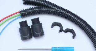 Double slit corrugated conduits