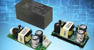 5 to 25W board mount Class II power supplies have wide operating temperature ranges