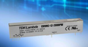 12V input 1.4 to 3W DC-DC converters provide adjustable outputs up to 2kV