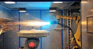 Cut component repair times using laser metal deposition