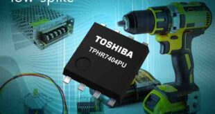 oshiba has launched the TPHR7404PU, a 40V, N-channel MOSFET that uses the latest generation U-MOSIX-H process. The MOSFET's low-spike capability reduces overshoot in switching applications