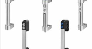 Tubular handles offer rugged electrical cut-off for safe opening of access panels on machine tools