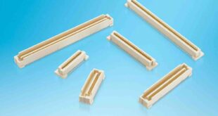 Compact high pin count 0.8mm pitch mezzanine connectors